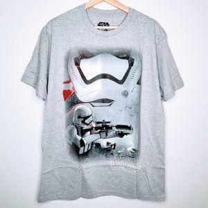 NWOT Star Wars Grey Stormtrooper Face Mask T-Shirt